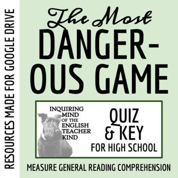 """""""The Most Dangerous Game"""" Quiz - Richard Connell"""