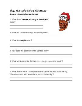 Quiz: The night before Christmas