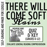 """There Will Come Soft Rains"" by Ray Bradbury - Quiz & Key"