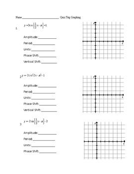 Quiz Trig Graphing