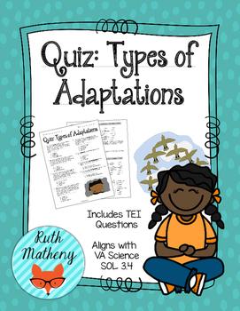Quiz: Types of Adaptations - VA Science SOL 3.4