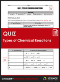 Quiz - Types of Chemical Reactions