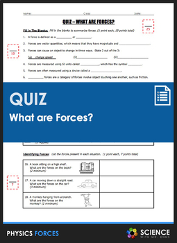 Quiz - What are Forces?