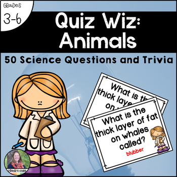 Quiz Wiz Science and Trivia Questions ANIMALS