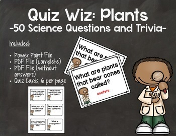 Quiz Wiz Science and Trivia Questions PLANTS