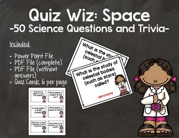 Quiz Wiz Science and Trivia Questions SPACE
