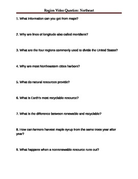 Quiz about Geography and the Northeastern region of the US