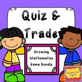 Quiz and Trade Games Math or Flashcards Bundle