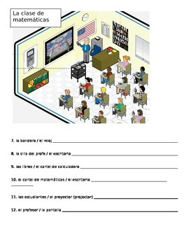 Quiz estar with location words / Realidades 1 2b