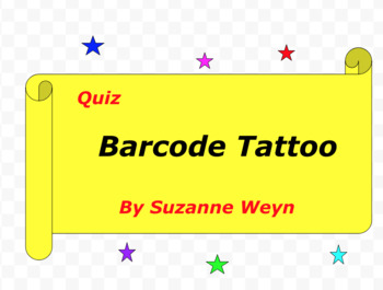 Quiz for Barcode Tattoo by Suzanne Weyn