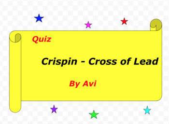 Quiz for Crispin - Cross of Lead by Avi