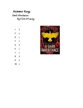 Quiz for A Dark Inheritance by Chris D'Lacey