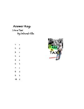Quiz for I Am A Taxi by Deborah Ellis