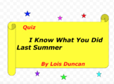 Quiz for I Know What You Did Last Summer by Lois Duncan