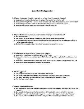 Quiz for Midwife's Apprentice by Karen Cushman