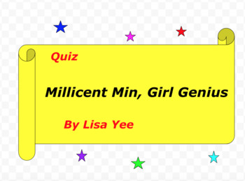 Quiz for Millicent Min, Girl Genius by Lisa Yee