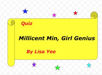 Quiz for Millicent Min, Girl Genius by Lisa Yee