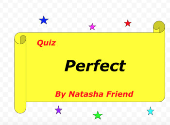 Quiz for Perfect by Natasha Friend