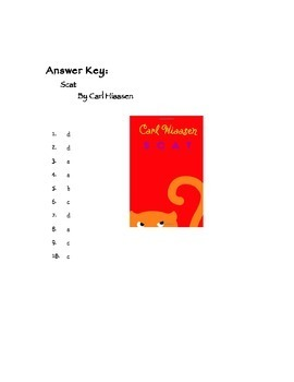 Quiz for Scat by Carl Hiaasen