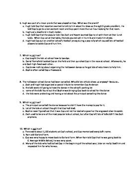 Quiz for Schooled by Gordon Korman