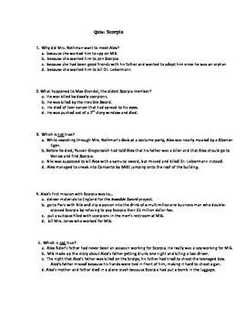 Quiz for Scorpia by Anthony Horowitz