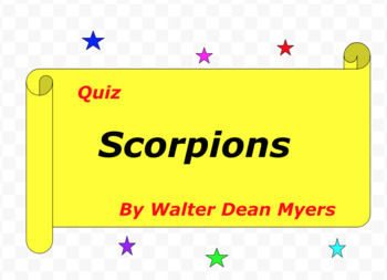 Quiz for Scorpions by Walter Dean Myers