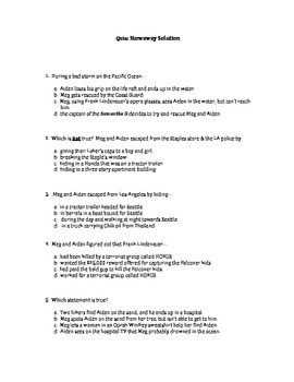 Quiz for Stowaway Solution by Gordon Korman