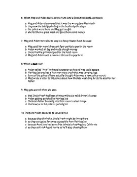 Quiz for The Fugitive Factor by Gordon Korman