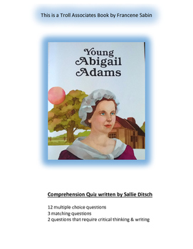 Quiz for Troll Associates book Young Abigail Adams