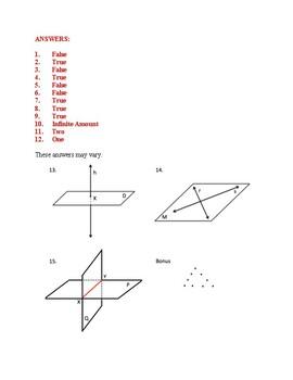 Unit 1, Lesson 1: Geometry Introduction Quiz