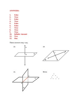 Unit 1, Lesson 1: Geometry Introduction Quiz