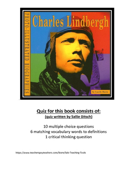 Quiz for book Charles Lindberg by Lucille Davis