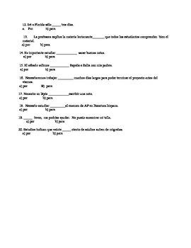 "Quiz for ""pero"" ""sino"" ""sino que"""