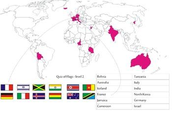 Quiz of Flags - level 2
