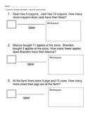 Quiz on Comparison story problems