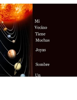Spanish Acronym Planets Poster