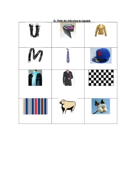 Quiz on Demonstratives and Clothing