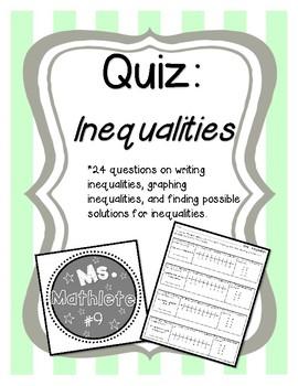 Quiz on Inequalities