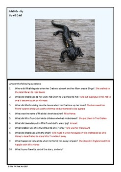 Quiz on Matilda by Roald Dahl