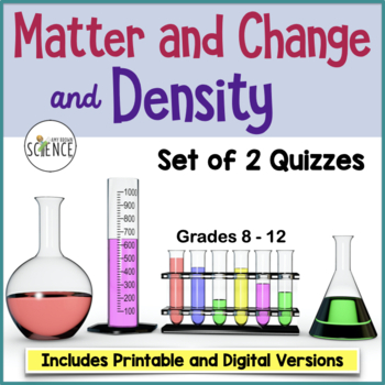 Quiz on Matter and Density