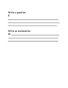 Quiz on Sentences