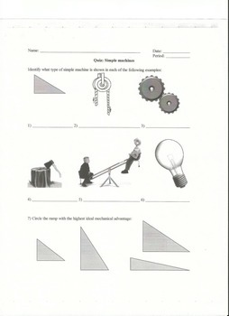 Quiz on Simple Machines