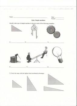 Quiz on Simple Machines