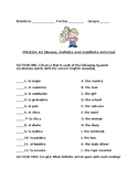 Quiz on Spanish Nouns and Articles (Descubre)