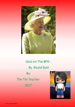 Quiz on The BFG by Roald Dahl