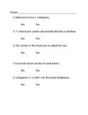 Quiz on hurricanes
