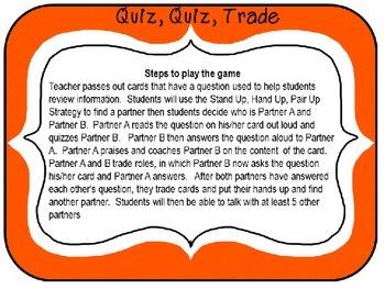Quiz, quiz, trade - Past or Present Tense