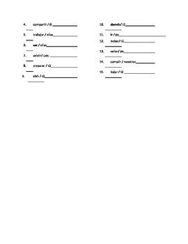 Quiz regular present with SER, IR, and TENER