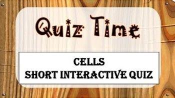 Quiz time- Cells