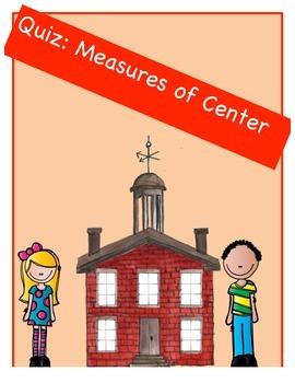 Quiz vocabulary measures of center